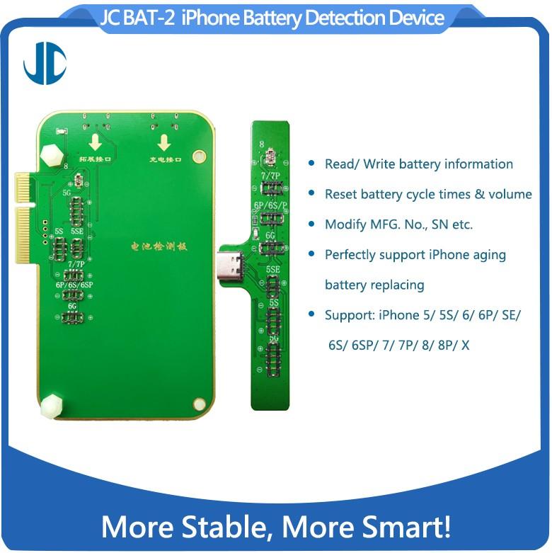 JC BAT-2 Modulo test batterie iPhone 5/5S/6/6P/5SE/6S/6SP/7/7P/8/8P/X
