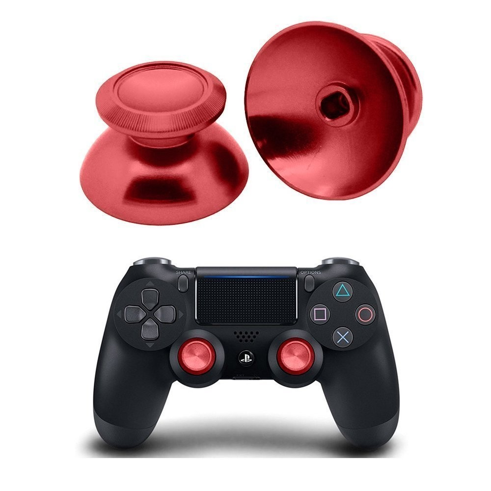 PS4 Joypad Leva Analogico Metal Mod Rosso