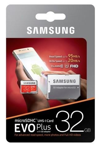 Samsung Evo Plus 32GB Classe 10 U1