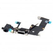 Iphone 5S Flat Connettore Di Carica + Jack + Microfono Nero
