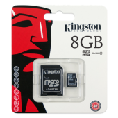Kingston Micro SDHC 8GB Classe 4 + Adattatore