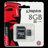 Kingston Micro SDHC 8GB Classe 4 + Adattatore