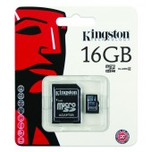 Kingston Micro SDHC 16GB Classe 10 + Adattatore