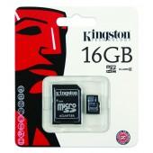 Kingston Micro SDHC 16GB Classe 10 + Adattatore